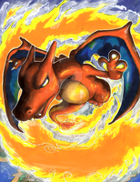 Charizard used Fire Spin by matsuyama-takeshi