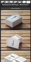 Businesscard Mockups - Wood Edition by h3design