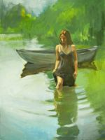 Girl with boat by AdamShaw