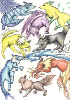 Eeveelutions Wolves by CatWoman4ever