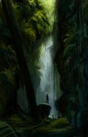 Ravine Quick Painting by mollyinmeguro