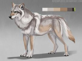WOW another wolf adopt: SOLD by KFCemployee