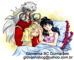 Inuyasha and Kagome's baby by giovannag