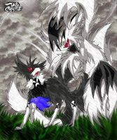 Three and Nine-tailed Confront by SoftMonKeychains