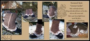 Steampunk Spats 'Granny's Garden' by Costumy