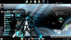 Style Win7: Black-Rock Shooter by hoangtush
