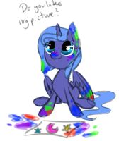 Drawing Luna while drawing... by diaxmine