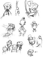 Kill Dib Concept Sketches by anniemae04