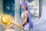 Athena - Saint Seiya cosplay I. by EnjiNight