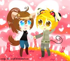 .:PC-Minac n Mouse Kaboom:.-Forest of Love by emily-the-wolf
