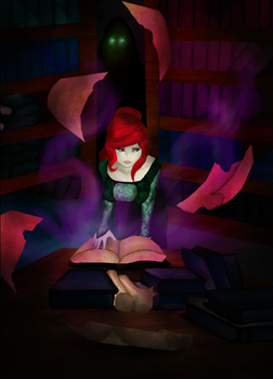 Dark Library by TheRussianPrincess