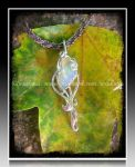 'A drop from the rainbow' sterling silver pendant by seralune
