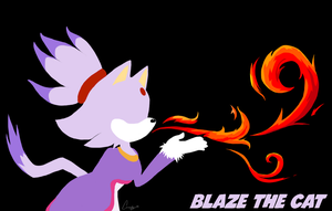 Blaze The Cat Wallpaper by JovialNightz
