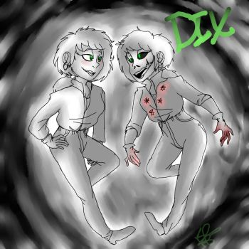 Dix--Zombie and human forms by TotallyLogical