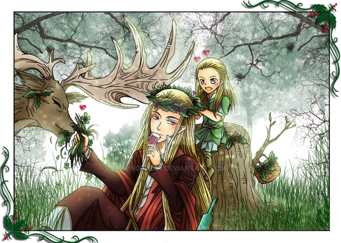 Christmas 2016 - Thranduil and Legolas by Windrelyn
