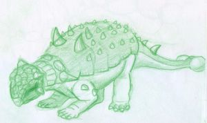 Ankylosaur sketch -2 by BAC-of-all-trades