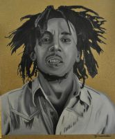 Bob Marley Acrylic painting by Rollingboxes