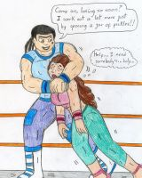Wrestling Eva vs Anne Maria by Jose-Ramiro