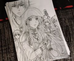 Original characters (project of cover) (sketch) by yoolin