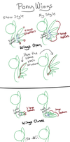 Pony Wing Tutorial by CuTTyCommando