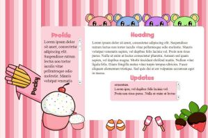 Kawaii Sweets Flash Template by Ravenblade234