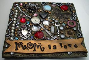 Mom is Love Mosaic Tile by MandarinMoon