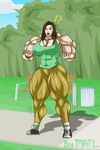 Commission - Katie muscle growth 3 by MATL