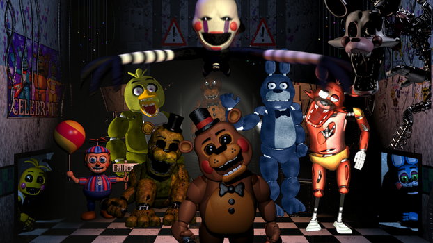 Five Nights at Freddy's - The Animatronic's by MultiShadowYoshi
