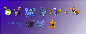 Pokemon Fusion Sprites by MochiFries