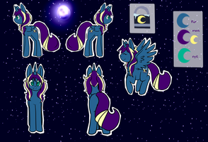 Night breeze Ref commission by UxieKnight
