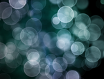 Teal Bokeh by winterbright