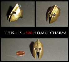 Leonidas Helmet Charm by YellerCrakka