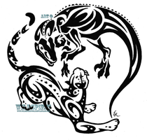 Raptor And Leopard Tattoo by WildSpiritWolf