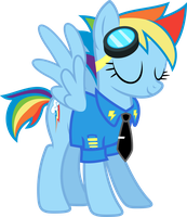 Commander Rainbow Dash by Syekun