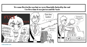 APH Comic - England in WWII by Vulb