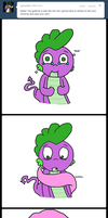 Spike stands up to Fluttershy by Spikandfrends