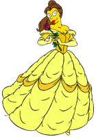 Princess Belle (Simpsonized) by darthraner83