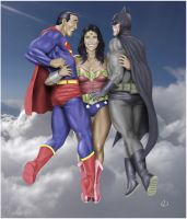 Superman and Batman - swept away by WW by yatz