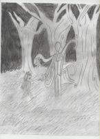 Alice and Slenderman contest entry by BlackWolfXP