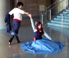 AX11-Eric and Ariel by moonymonster