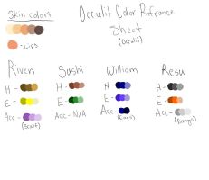 Occulit Color Refrance Sheet by XxRibbonsxX
