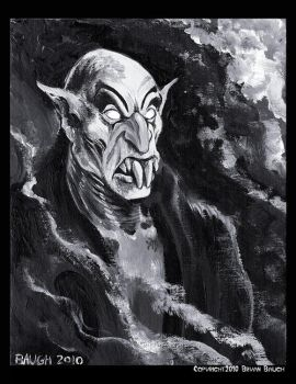 Nosferatu Paint Sketch by BryanBaugh