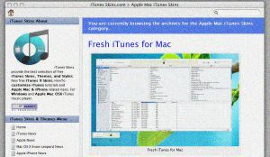 3 new iTunes Skins for Mac by guistyles