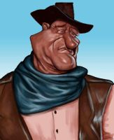 John Wayne caricature by jonesmac2006