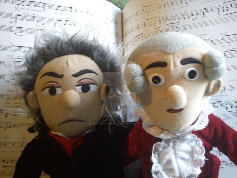 Mozart and Beethoven by Hoshi-Wolfgang-Hime