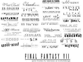 Final Fantasy VII: Quotes. by tifalenne