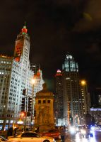 Chicago Night by Dreyco