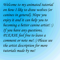 .:Animated Tutorial - How to draw a wolf:. by Ashenee