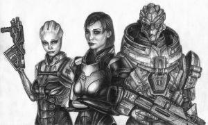 Shepard,Garrus and Liara by KoshaKN7