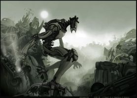 Robot in a Cemetery of Wrecks by casus-solari